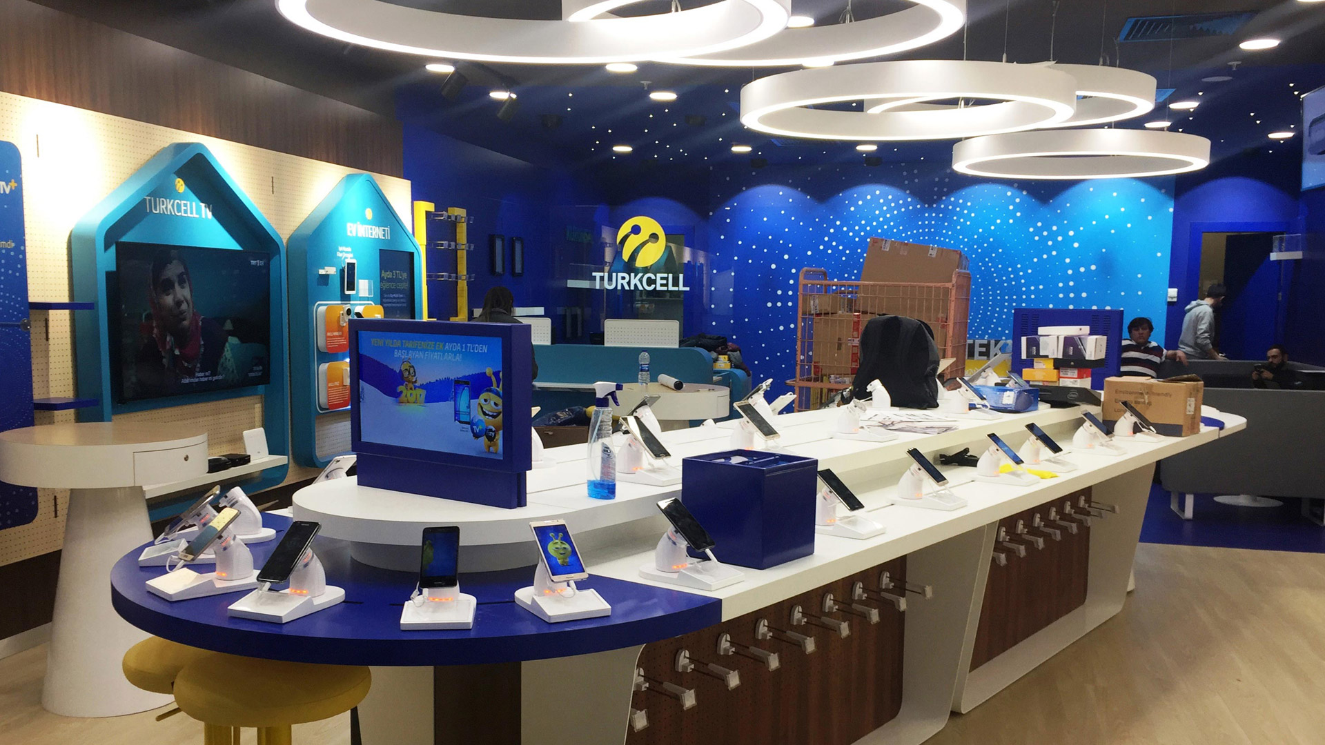 NOVA rebranded 1100 Turkcell  (Turkey's largest GSM Operator) shops 2016 within the scope of the New ''Constellation  Project'', followed by two pilot site implementations in Istanbul.